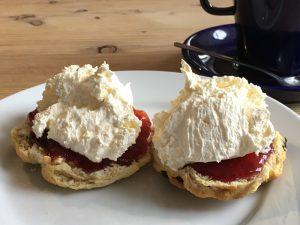 A scone at Glenlyon tearoom, Bridge of Balgie