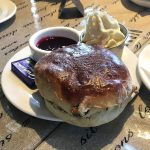A scone at the Butter Churn Coffee Shop, Kirkintilloch