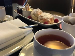 View of scones at Grand Central Hotel, Glasgow