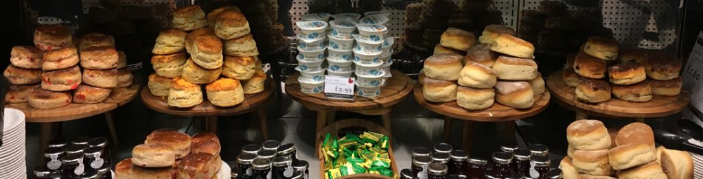 Scones at the Wee Big Shop in Gretna Green