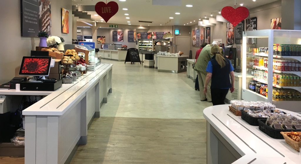 Interior view of the Wee Big Shop in Gretna Green