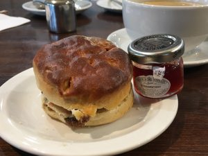 Scone at the Wee Big Shop in Gretna Green