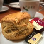 A scone at the visitor centre at Wanlockhead