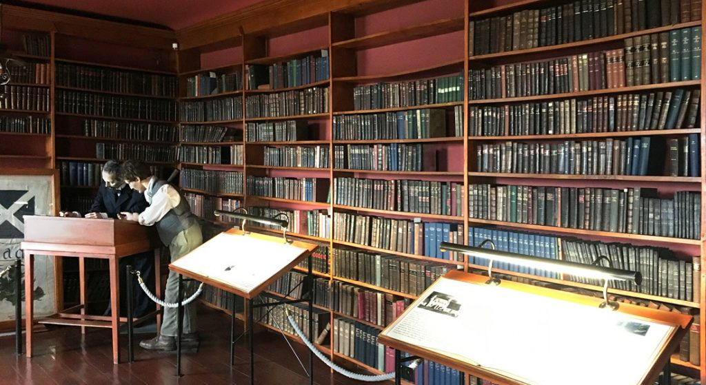Interior view of the miners library at Wanlockhead