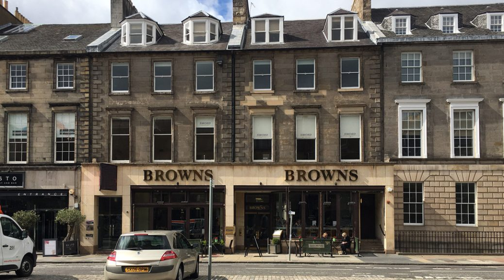 External view at Browns of Edinburgh