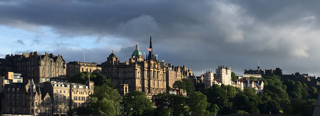 Edinburgh looking dramatic in evening sunshine