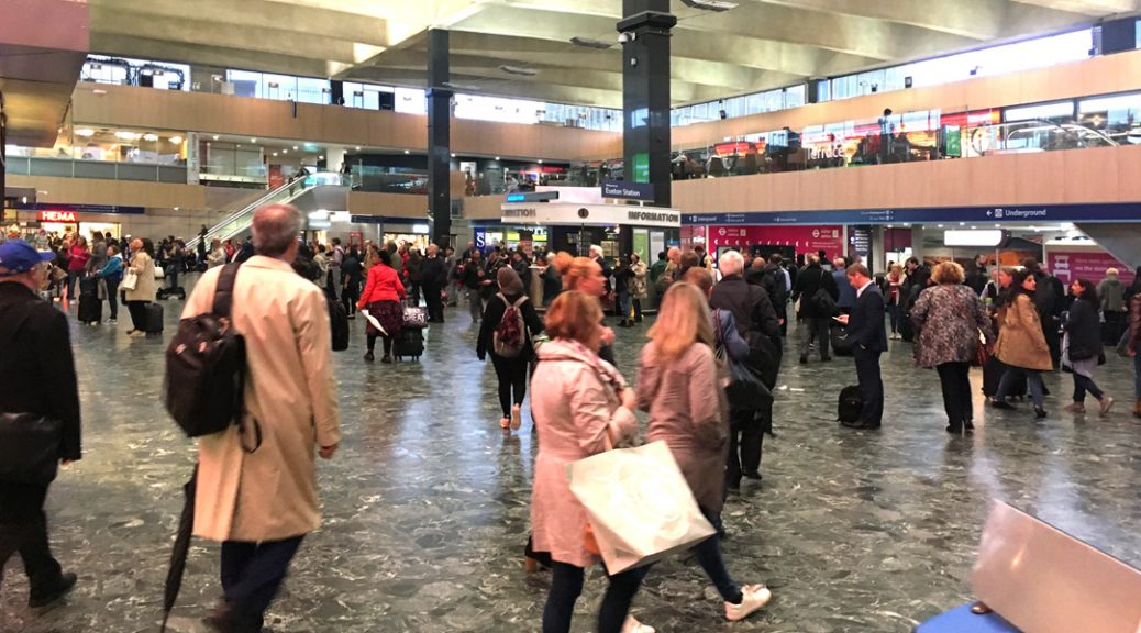 The conourse at London Euston station