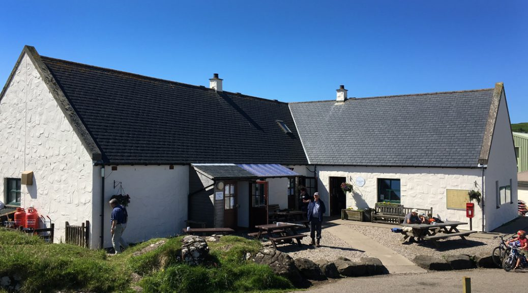External view of Galmisdale Café & Bar on the Isle of Eigg