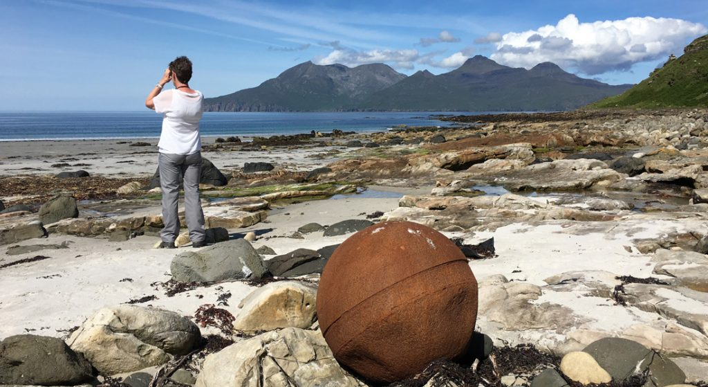 The singing sands on the Isle of Eigg