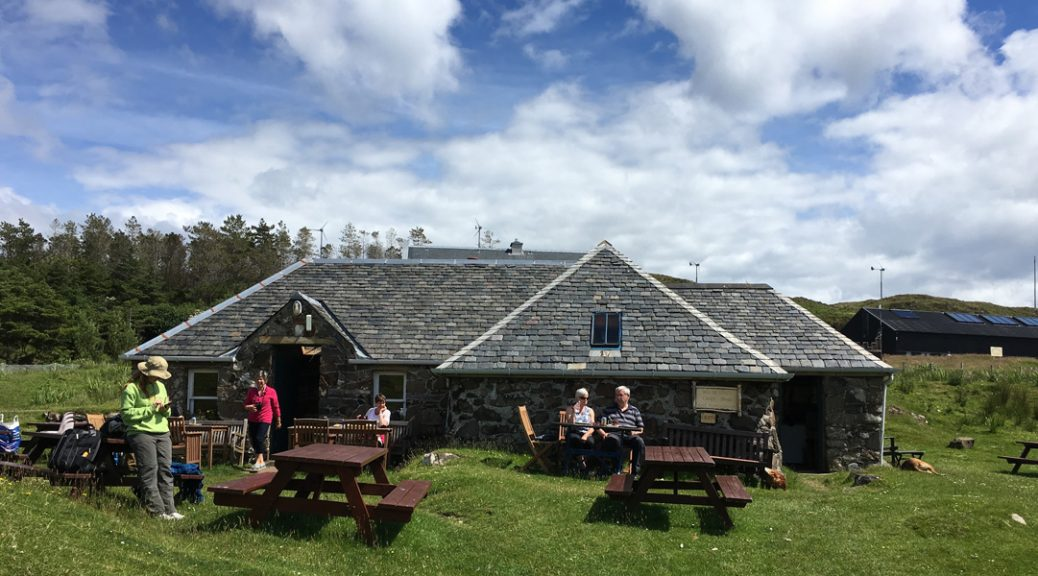 External view of the Bothy tearoom on the Isle of Muck