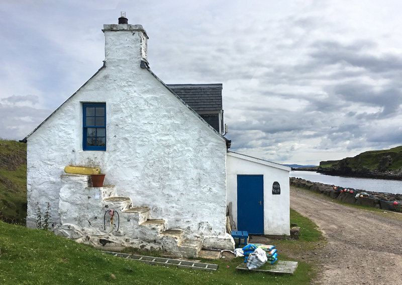 Pier House in Port Mòr on the Isle of Muck