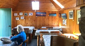 Internal view of the Bothy tearoom on the Isle of Muck