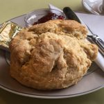 A scone at Onich Tearoom