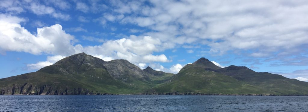 Approaching the Isle of Rum