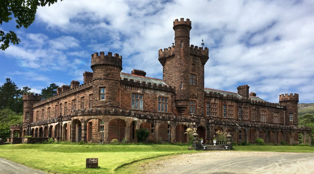 External view of Kinloch Castle on the Isle of Rum