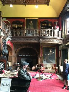 Internal view of Kinloch Castle on the Isle of Rum