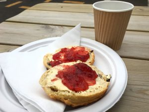 A scone at the National Shooting Centre, Scotland
