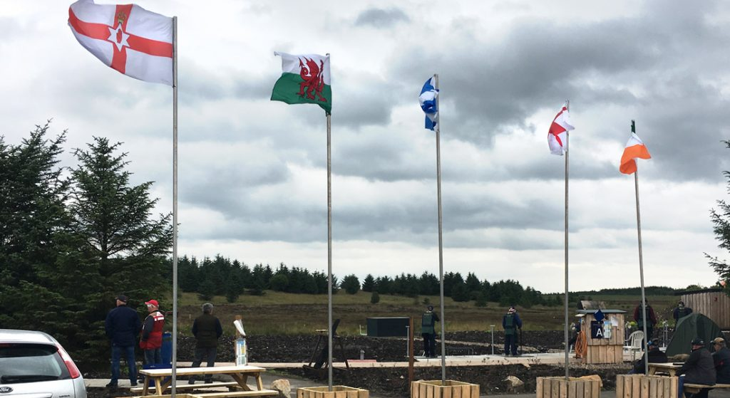 Flags flying at the National Shooting Centre, Scotland