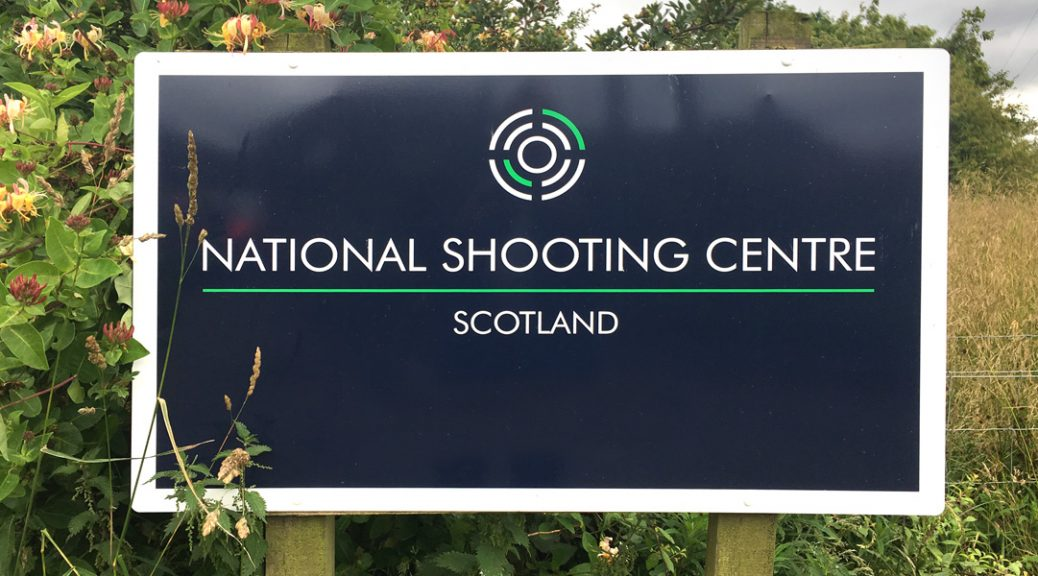 Sign for the National Shooting Centre, Scotland