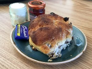 A scone at the Legends Coffee House at the Wallace Monument, Stirling