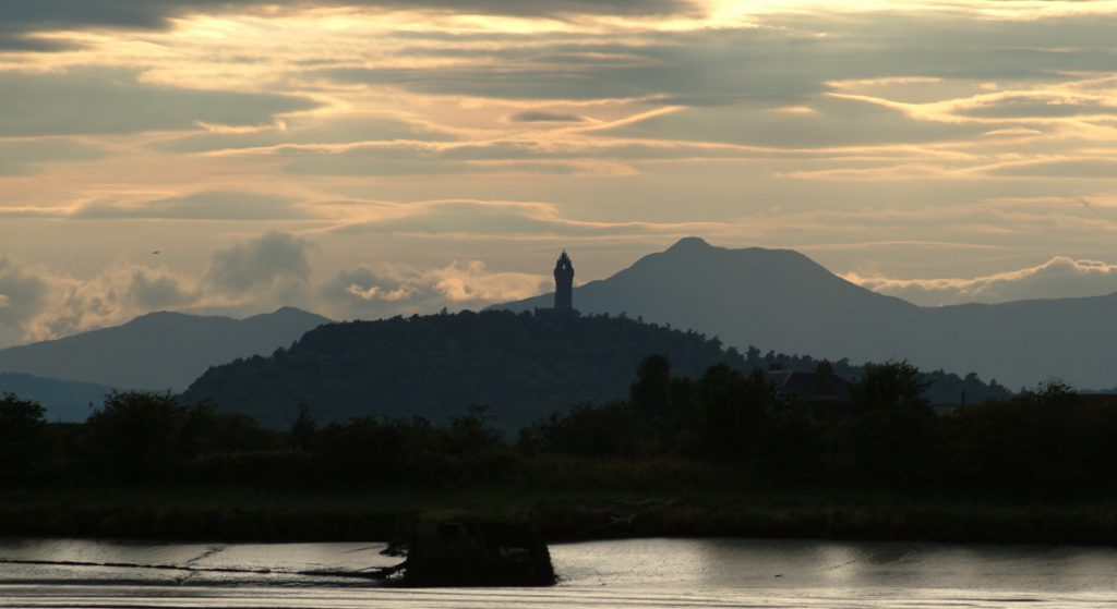 Evening view of the Wallace Monument, Stirling