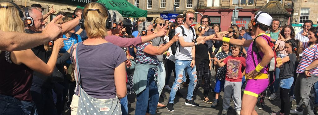 Street performance at the Edinburgh International Festival
