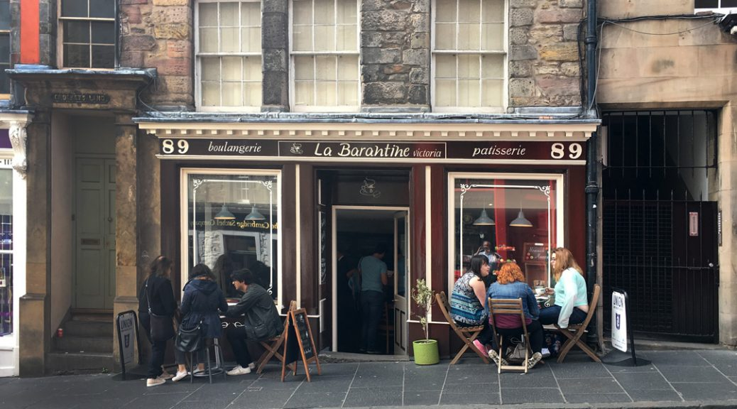 External view of La Barantine patisserie, Edinburgh