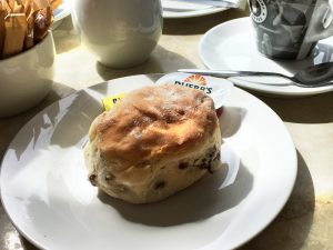 A scone at the Riggs Coffee House, Falkirk