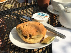 A scone at the Orangery Café at Ham House
