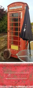 K6 telephone box at Cricklade in the Cotswolds from the Saracen foundry in Glasgow
