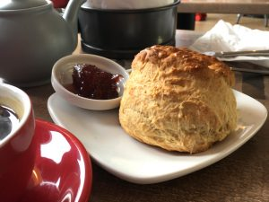 A scone at Margo's Bakehouse, Polmont