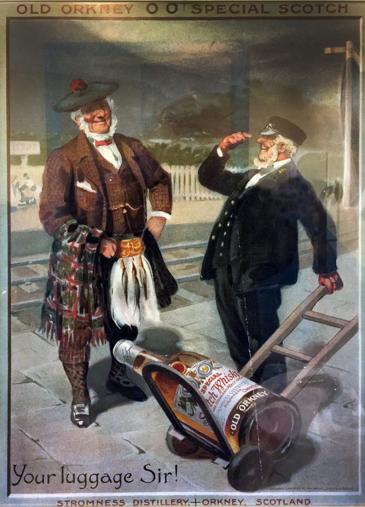 Stromness whisky advertisment at Judith Glue, Kirkwall, Orkney