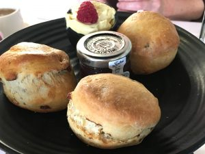 A scone at the Stirling Highland Hotel