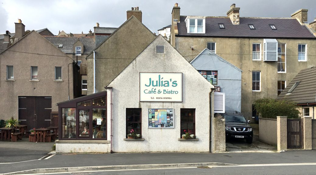 Exterior view of Julias café, Stromness, Orkney