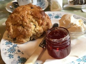 A scone at the Strynd Tearoom, Kirkwall, Orkney