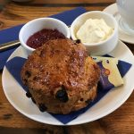 A scone at the Carnegie Courthouse, Dornoch