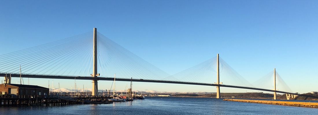 The Queensferry Crossing over the river Forth