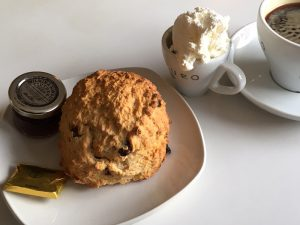 A scone at Kilmahog Woollen Mill