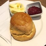 A scone at Riverhill Coffee Shop, Glasgow
