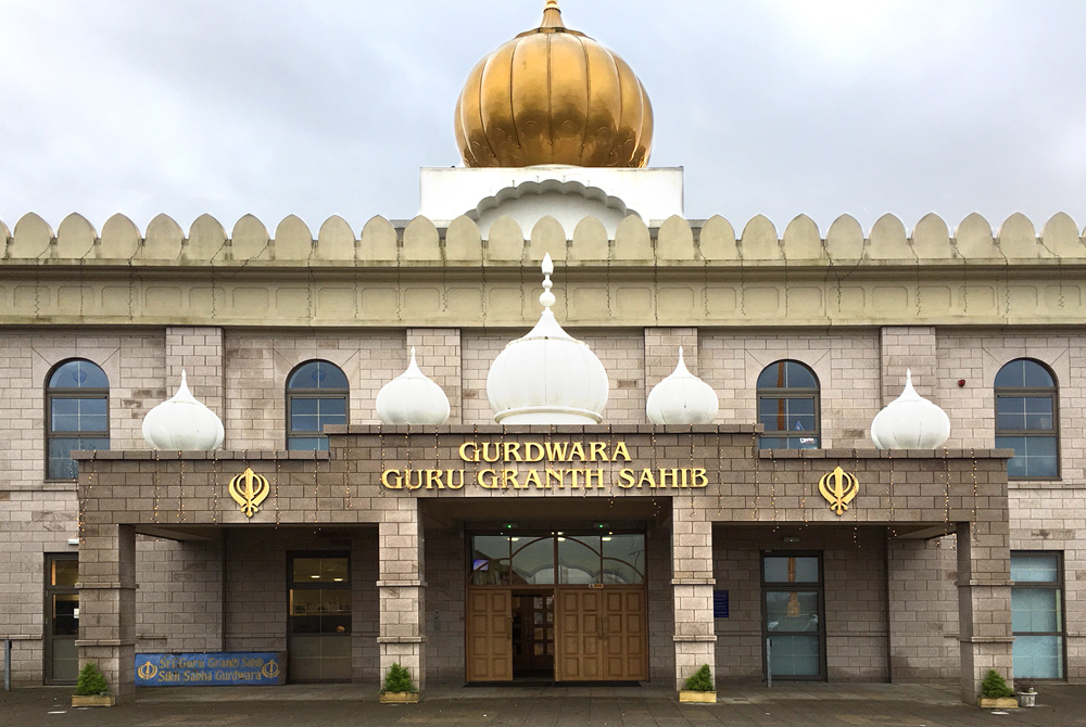 External view of the Gurdwara Sikh temple in Pollockshields