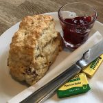 A scone at the Sundial Café in Limekilns