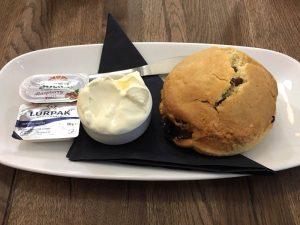 A scone at Café Belgica