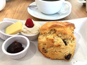 A scone at Fenwicks of Linlithgow