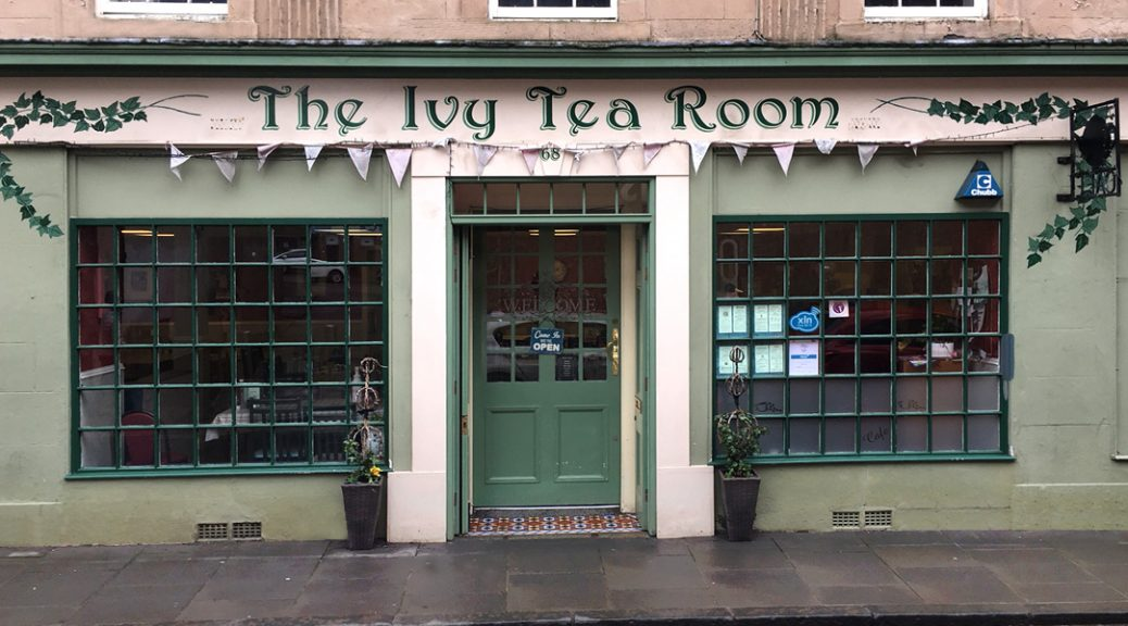 External view of the Ivy Tea Room in Bo'ness