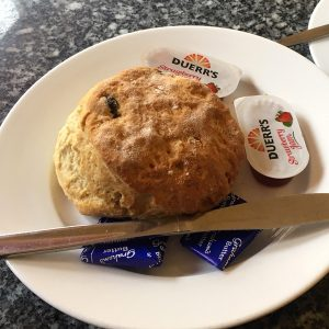 A scone at Brian's Café in Boness