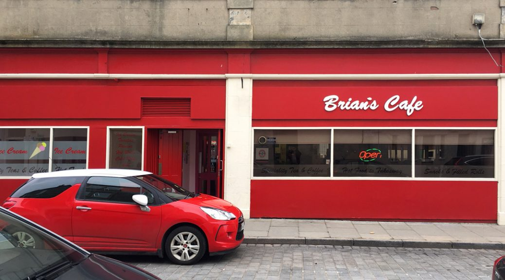 Exterior view of Brian's Café in Boness