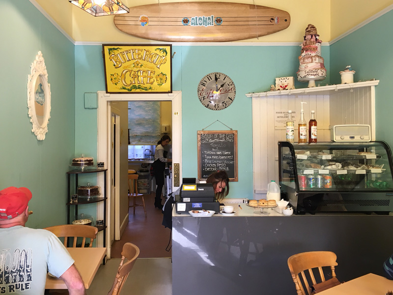 Internal view of the Buttercup Cafe in North Berwick
