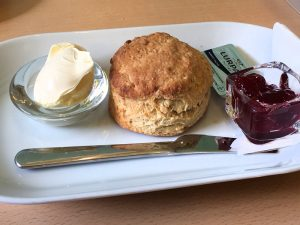 A scone at the Buttercup Cafe in North Berwick