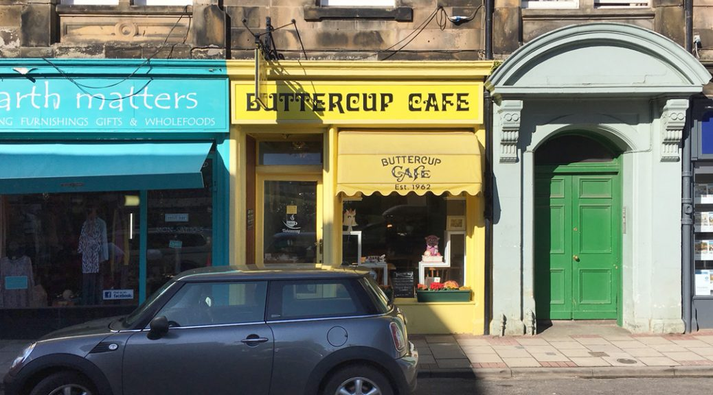 External view of the Buttercup Cafe in North Berwick