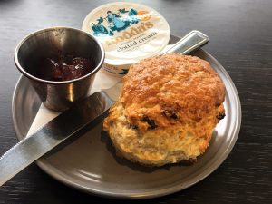 A scone at Cadell's Café in Cockenzie